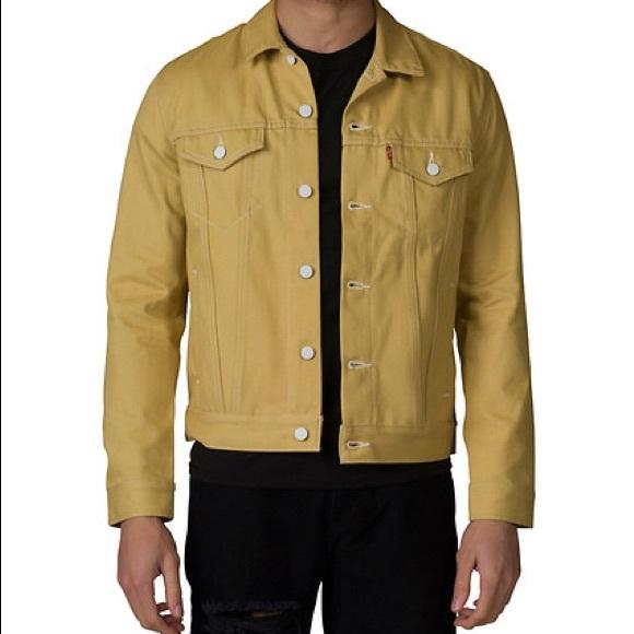 Levi S Jackets Coats Mens Mustard Levis Denim Jacket Poshmark